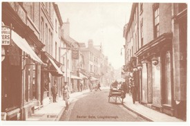 Photo:Postcard of Baxtergate Loughborough, Leicestershire
