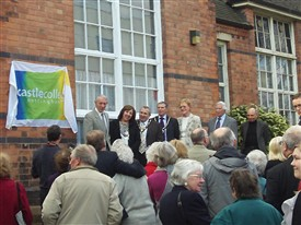 Photo:Lining up for the unveiling of the Blue Plaque