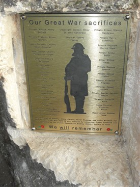 Photo:The plaque stands in the village of Bathley