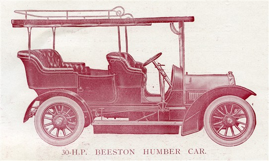 Photo:A 30hp Beeston Humber, from an advert of 1907