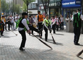 Photo:A Lincolnshire Broom Dance in Nottingham, April 2010