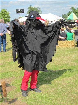 "Photo:Rattlejag Morris has adopted Broadstone's Chough as its ""beast"" - three choughs appear on the Retford Coat of Arms."
