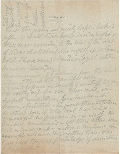 Photo: Illustrative image for the 'WW1 letter written by Mrs Becher of Southwell on the day her son died' page