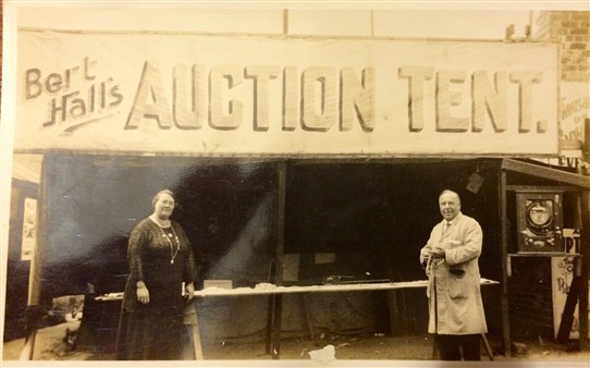 Photo:A picture again at the auction tent of my Great grandparents Bert and Bella