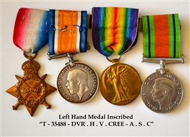 Photo:Medals of Bert Cree