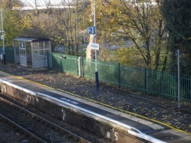 Photo:A section of new raised platform at Bingham Station