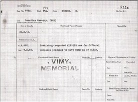 Photo:Record of Harry Brewer's fate