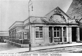 Photo:Mansfield's 'Carnegie' library on Leeming Street, prior to the 1930s extensions