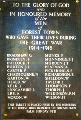 Photo: Illustrative image for the 'Forest Town: Names on the Forest Town War Memorial' page