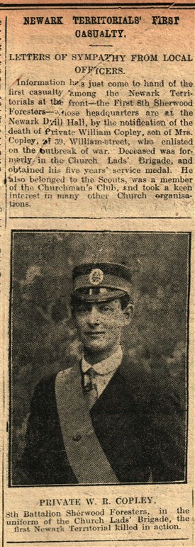 Photo:From the Newark Advertiser, 21st April 1915