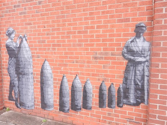 Photo: Illustrative image for the 'First World War wall art at Beeston' page