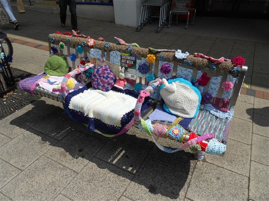Photo:A comfortable street bench