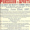 Page link: Programme of the Procession and Sports To Celebrate Her Majesty's Diamond Jubilee, June 22nd, 1897.