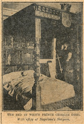 Photo:The bed in which Prince Charlie died from 'The Golden Penny', May 4th 1901