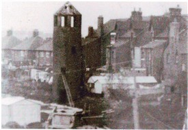 Photo:Mr Edward Lowe's Observatory next to the railway station, demolished 1963