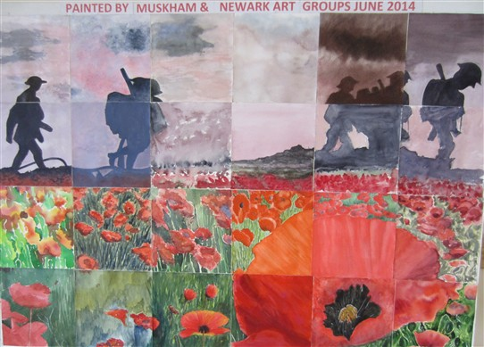 Photo: Illustrative image for the 'Art Clubs paint tribute to First World War fallen' page