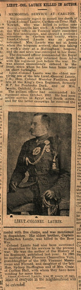Photo:From the Newark Advertiser 24th March 1915