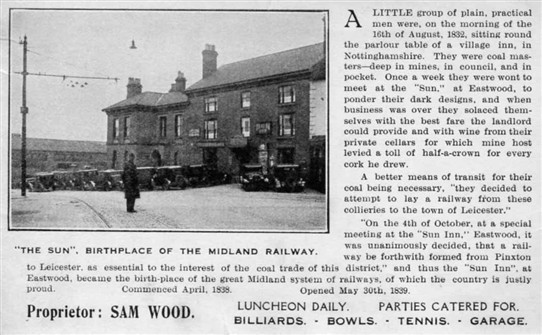 Photo: Illustrative image for the ''The Sun' Birthplace of the Midland Railway' page