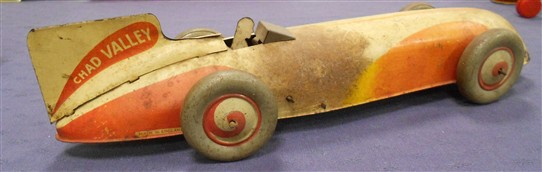 "Photo:A racing car from the 1930s - branded ""Chad Valley"", but made in Mansfield by Metal Box"