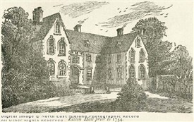 Photo:Elston Hall, as it appeared prior to 1754