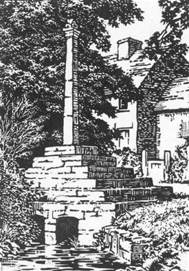 Photo:Bottom Cross, Linby, drawn in c.1900