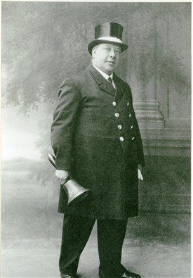 Photo:Bert Hall in his Town Crier's uniform, 1920s