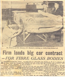 Photo:ABOVE: Announcing Bourne Plastics new contract to supply bodies for the Lotus Elan