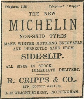 Photo:Advert from The Nottingham Daily Express, 30th March 1907