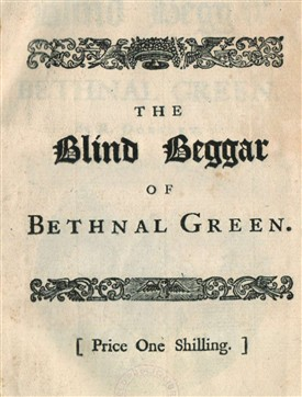 Photo:Title page from 'The Blind Beggar of Bethnal Green' - a musical piece - published by Dodsley in 1741