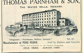 Photo:Advert for flour from Parnham's Mill, 1926