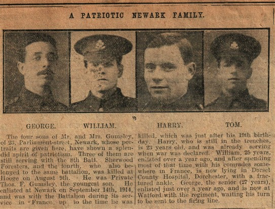 Photo:From the Newark Advertiser 8th december 1915