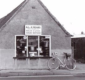 Photo:Reg's cycle also appeared in his picture of Chilwell High Road.  This is just a corner of the full image.