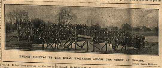 Photo:From the Newark Advetiser 25th November 1914