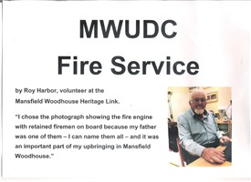 Photo:Roy Harbor, volunteer at the Mansfield Woodhouse Heritage Link