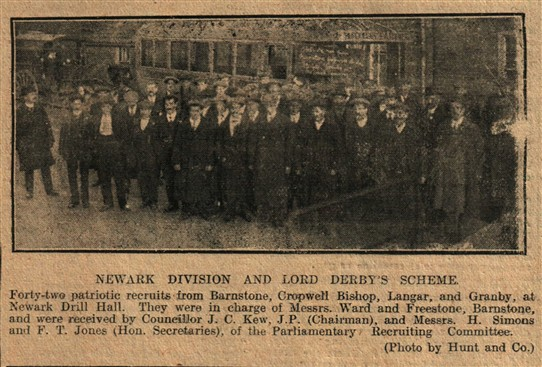 Photo:From the Newark Advertiser 1st December 1915