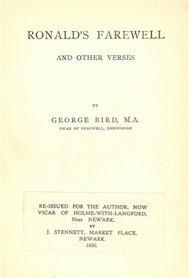 Photo: Illustrative image for the 'Rev. George BIRD (1858 - 1941)' page