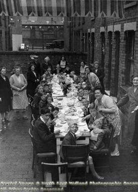 Photo:Rupert Street The Meadows Coronation Party 1953