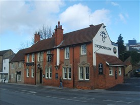 Photo:The Brown Cow in Mansfield - the building now on the site of the house where Robert Dodsley was born