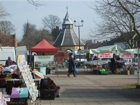 Photo:Bingham Market Place today - A bustling place for the weekly Thursday Market