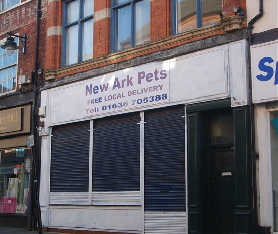 Photo:New Ark pet shop in Cartergate, Newark (geddit?)