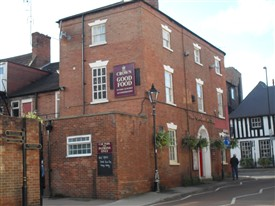 Photo:The Crown Hotel, Church street, Southwell. Last home to Count Albert de Belleroche