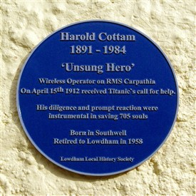 Photo:Close-up of the Lowdham plaque