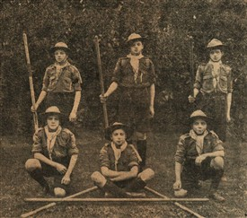 Photo:Members of the 5th Newark scout troup, 1916