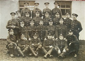 Photo:In this group of Sherwood Foresters Wiiliam H Allen may be seen standing on the back row, far right.