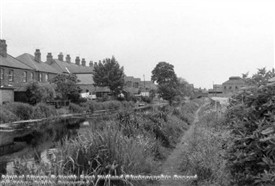 Photo:Spa Common, Retford, alongside the Chesterfield Canal in 1968