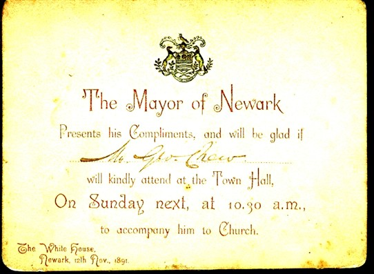Photo: Illustrative image for the 'Invitation to the Mayor's Sunday Service in Newark, 1891' page