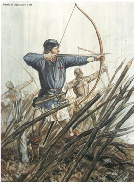 Photo:Archers at Agincourt