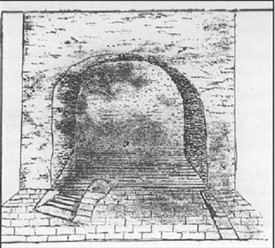 Photo:The Holy Well Immersion Bath from a 17th Century Sketch