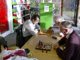 Photo:Newark Library Chess Club on a Friday afternoon.
