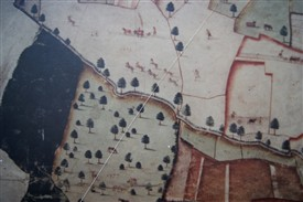 Photo:Part of an ancient map of Laxton